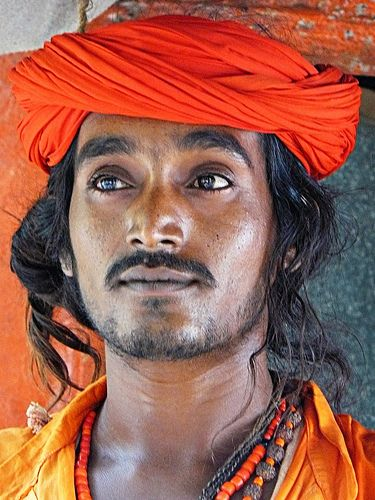 Portrait of a young man, India, 2009, photograph by Ari Ngap.