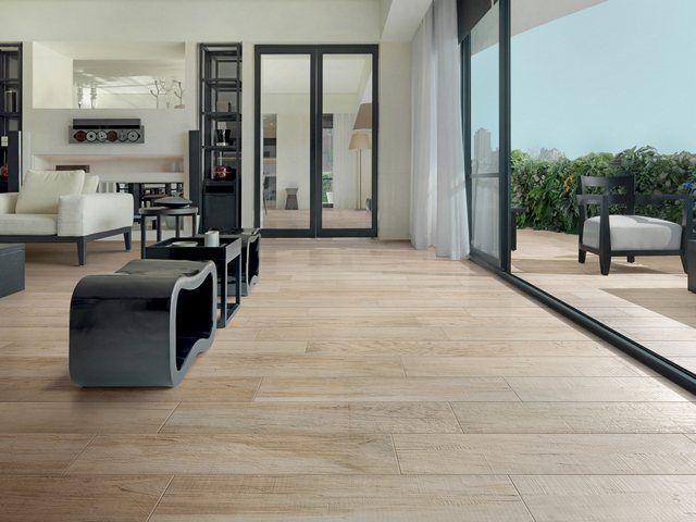 Porcelain tile flooring that looks like wood