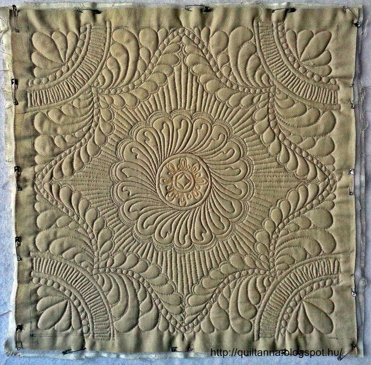 Anna's Quilting Studio: Free Motion 2015.Márciusi quiting Challenge