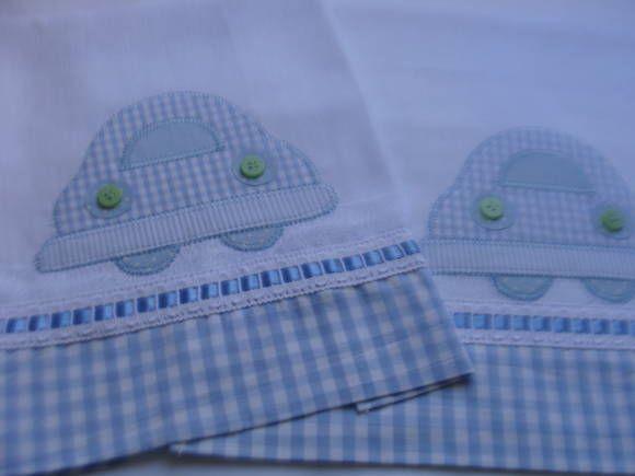 BABINHA  -CARRINHO Pano de ombro e boca Confeccionado com fraldas de luxo  Bordado em Patch Apliquê  Acabamento tecido 100% algodão R$ 20,00
