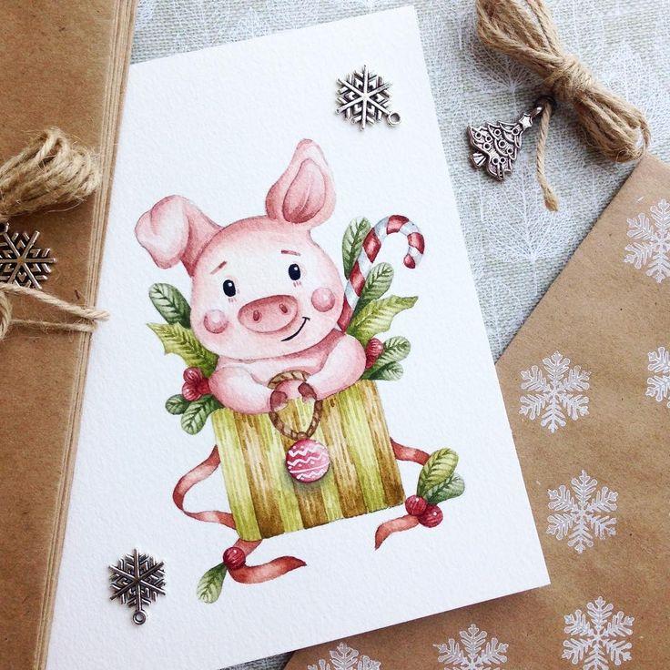 Картинки работе, свинки на открытках