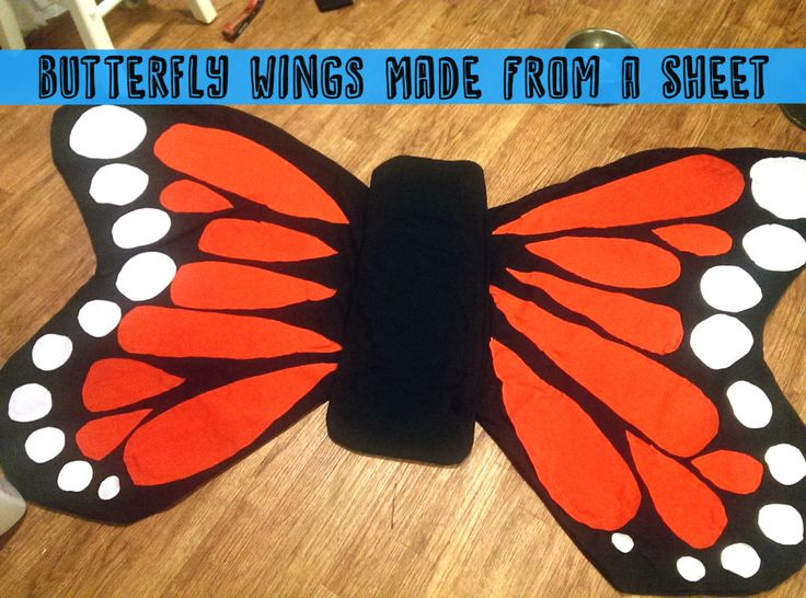 Butterfly Costume Made from a Sheet   Thrifty Below