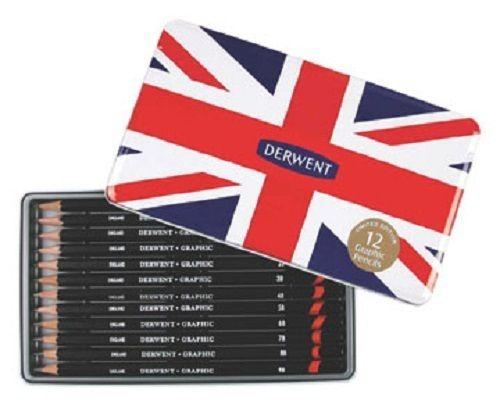 Derwent Special Edition Union Jack Graphite Pencils - 12 pk in Tin