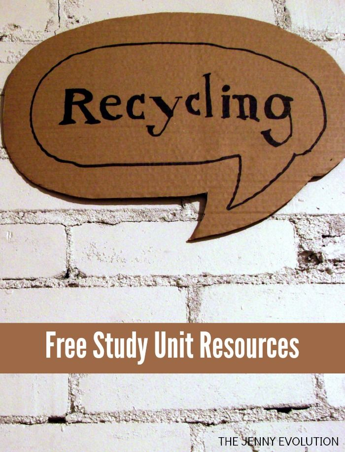FREE Recycling Study Unit Resources + Children's Book Recommendations