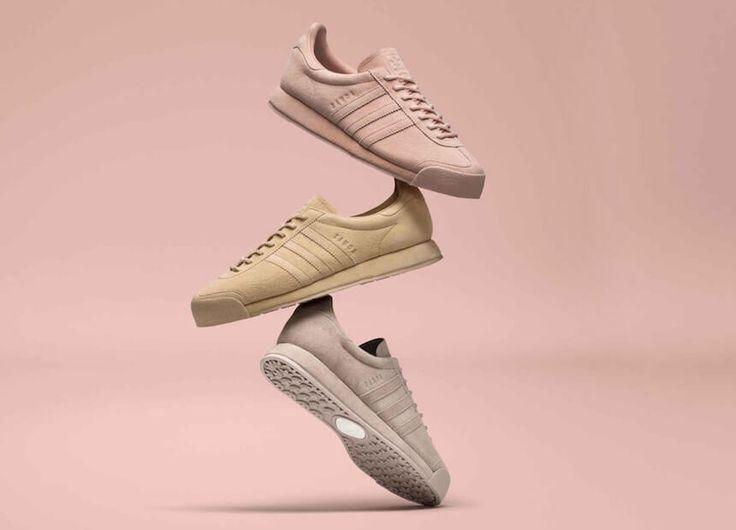 Noch ein Klassiker, der zurück ist: Adidas Originals bringt uns den Samoa in pastelligem Grau, Rosa und Nude zurück. Es leben die Classics!