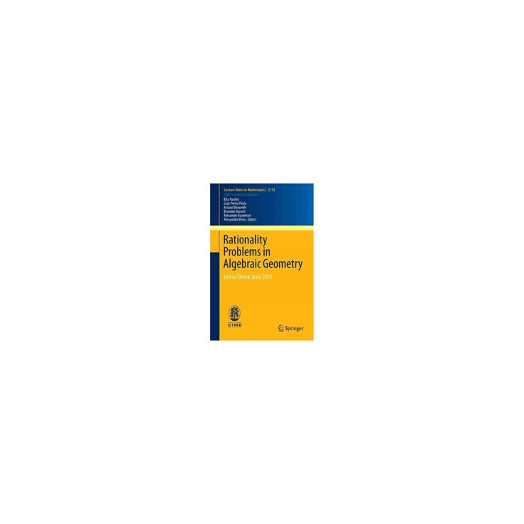 Rationality Problems in Algebraic Geometry : Levico Terme, Italy 2015 (Paperback) (Arnaud Beauville)