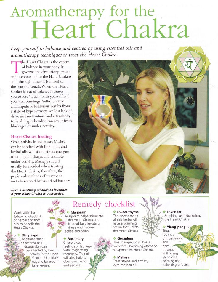 Aromatherapy for the Heart chakra Loved & pinned by http://www.shivohamyoga.nl/ #crystals #crystal #healing #mindful #newage #zen #love #live #chakra