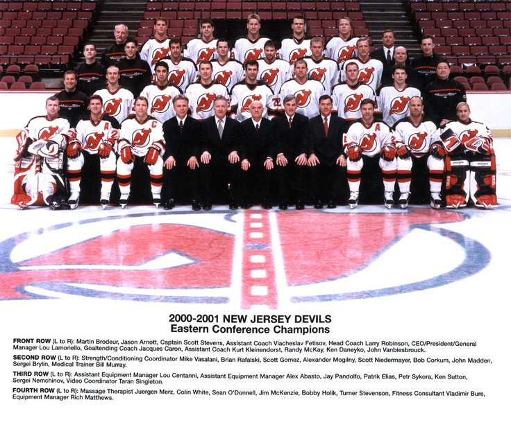 The 2000 2001 New Jersey Devils And Eastern Conference Champions