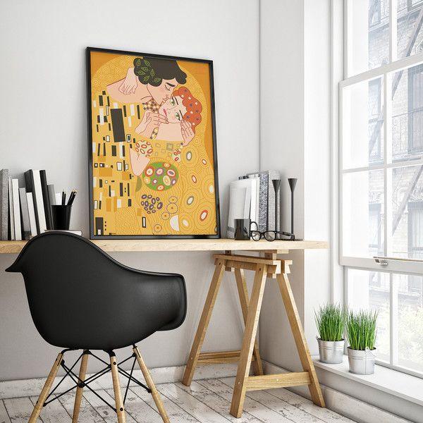 POCAŁUNEK plakat 50x70 - DobreSztuki - Wydruki cyfrowe