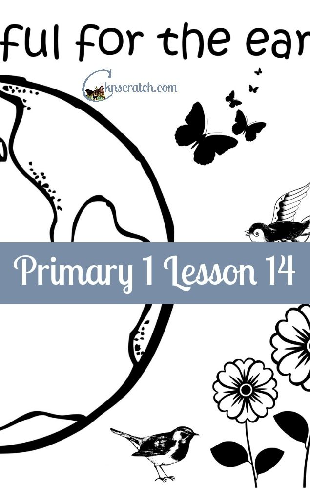 Lesson helps and handouts for Primary 1 Lesson 14: Adam and Eve were created in Heavenly Father's Image