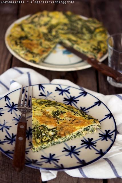 Agretti and tuna frittata