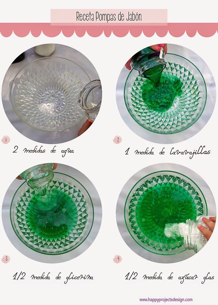 Receta para pompas de jabón gigantes Bubble Party