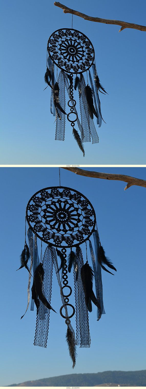 Black dream catcher Large Pure Black dream catcher by GypsysSummer