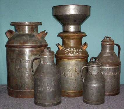 Image result for milk cans and strainer
