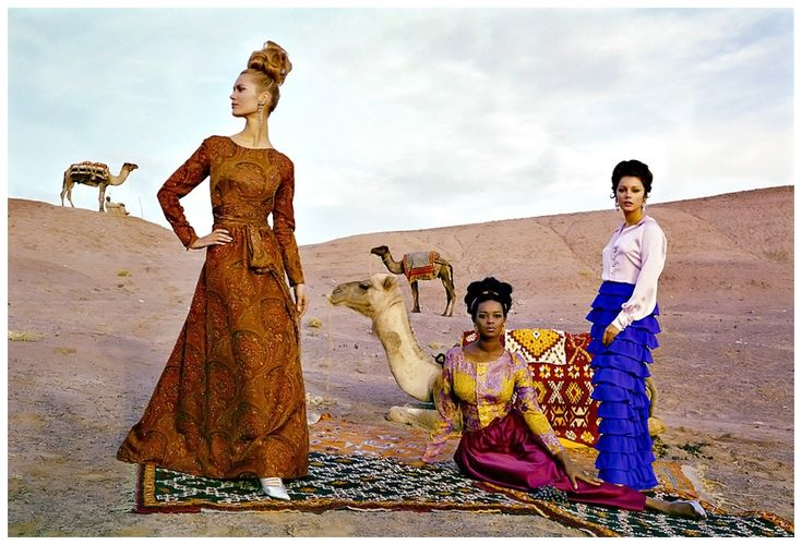 Fashion photo by Brian Duffy taken in Morocco for French ELLE, November 1962