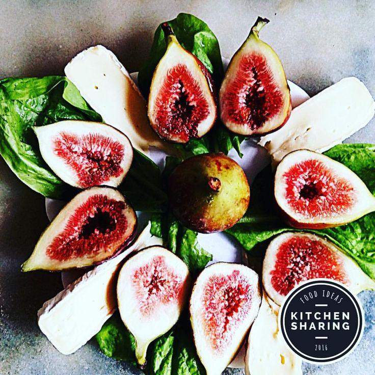 Fichi e Brie un piatto semplice ma molto gustoso, grazie a Adriana Star #kitchensharing #kitchendesign #ricettadelgiorno #topfood #piattiitaliani #kitchendecor #foodporn #food