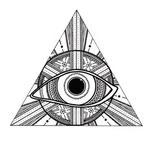 Illuminati Triangle Eye Drawing Third Eye Triangle Sti...