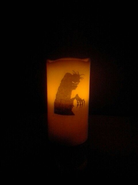 Halloween Candle. https://m.facebook.com/personalised.candles.for.all.occasions