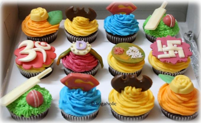 Raksha Bandhan Cupcakes for superhero brothers