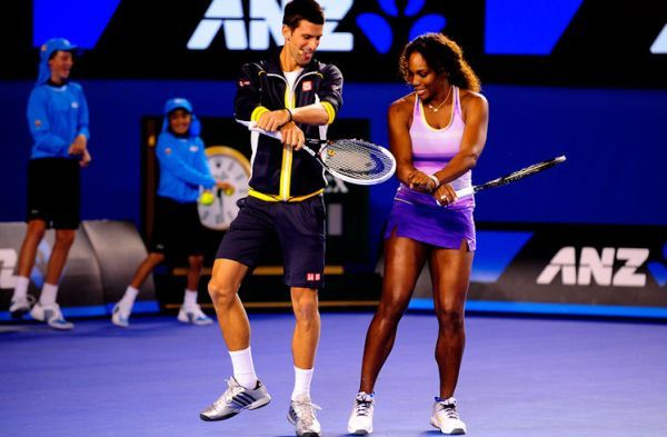 Novak Djokovic si Serena Williams la Kid's Day la Australian Open