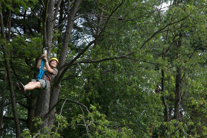 Zipline on the Canopy Tour provided by Wisp Resort