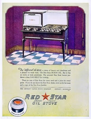 Red Star Oil Stove ad, 1924.