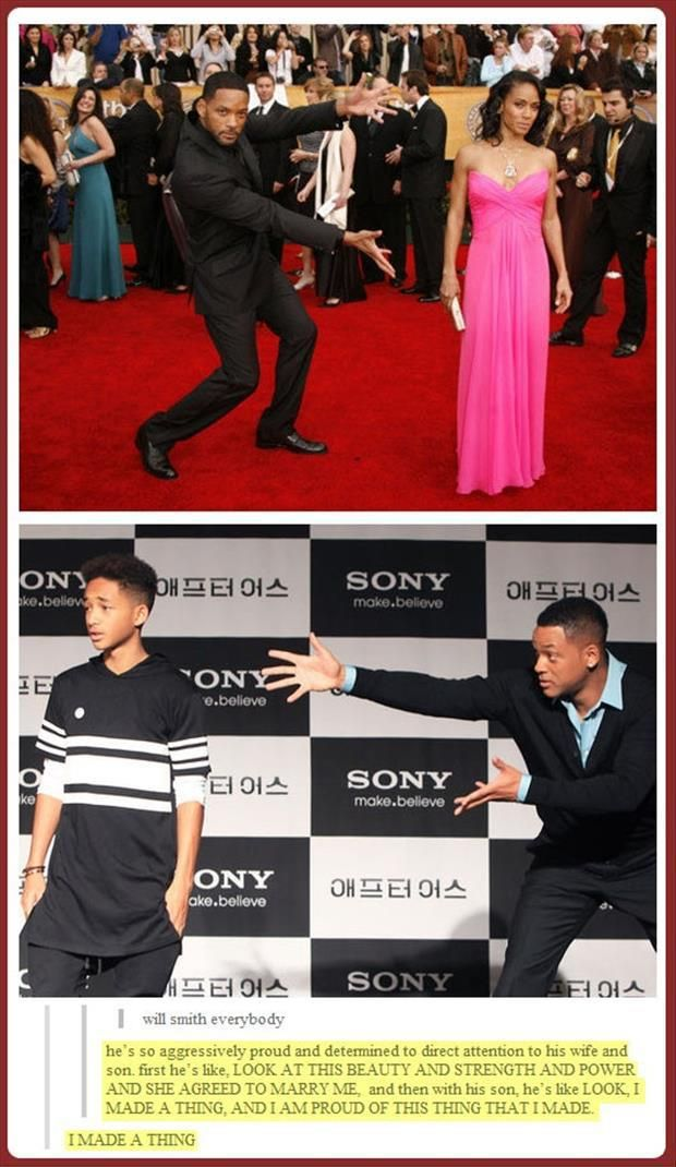 most men hold their wive's hands or help them down the stairs. then there's will smith... XD