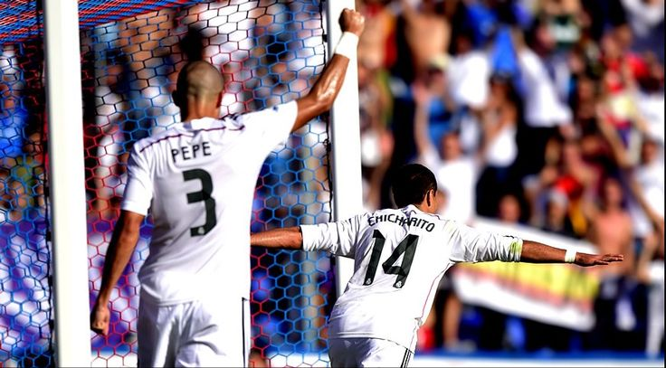 """Javier """"Chicharito"""" Hernández marcó el pasado fin de semana, gol que lo convierte en el jugador con mejor promedio anotador en la liga española; un tanto cada 33 minutos."""
