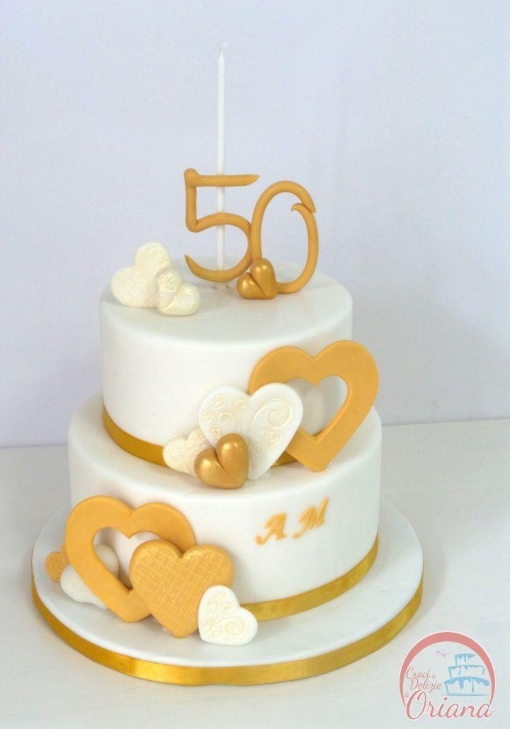 Torta 50 anniversario di matrimonio | 50th anniversary cake http://blog.giallozafferano.it/crociedeliziedioriana/2016/10/torta-50-anniversario-matrimonio.html