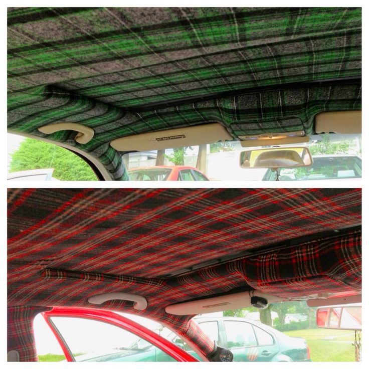 DIY Car Headliner: 4 Yards Of Any Fabric And 2 Cans 3M Super 90 Spray