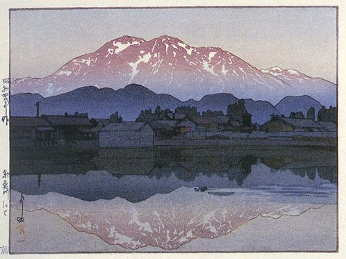 版画ギャラリー。 。 。 鳥居ギャラリー:吉田宏による糸魚川、朝