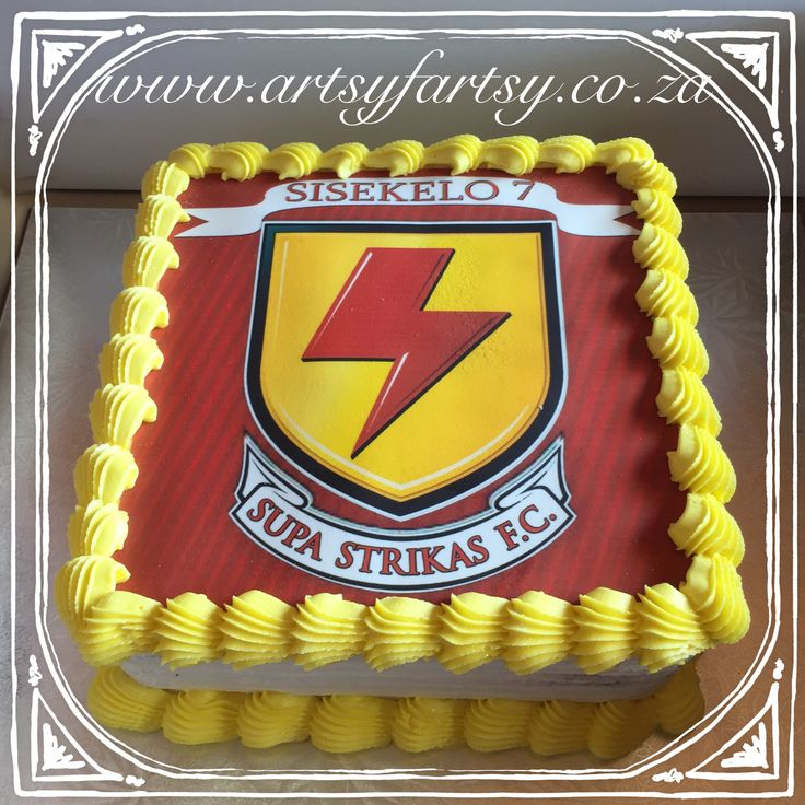 Supa Strikas Edible Picture Cake #supastrikascake #soccercake