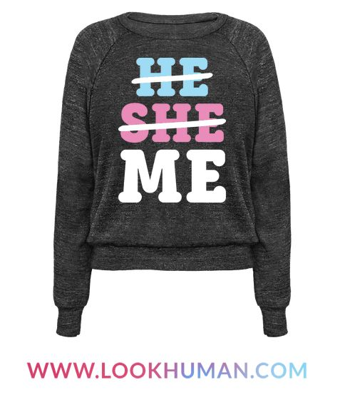 We are not defined by our genders or pronouns. This non binary, gender identity design features the text 'He She Me' with he and she crossed out. Perfect for non binary gender identity, genderqueer, transgender, LGBT pride, transgender pride, non binary pride, and crushing gender stereotypes!
