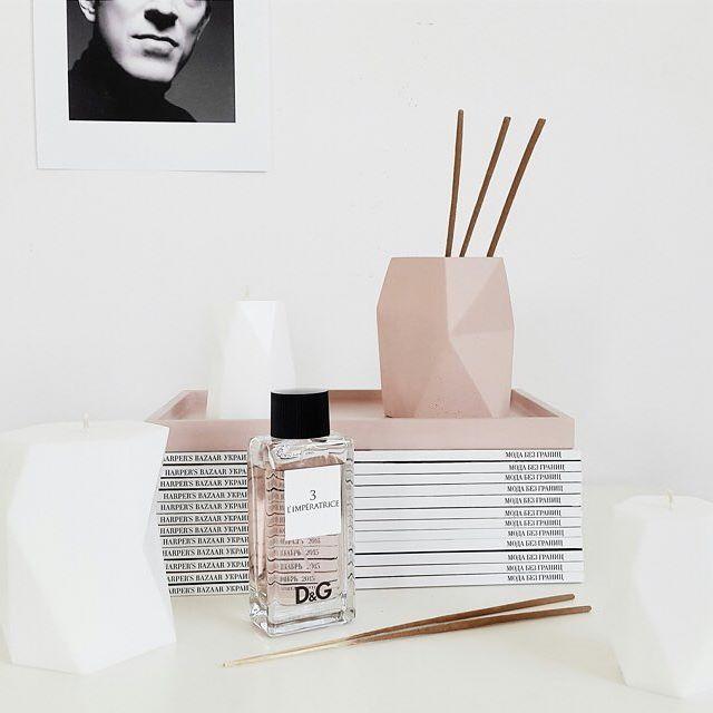 Pink concrete hand made vase