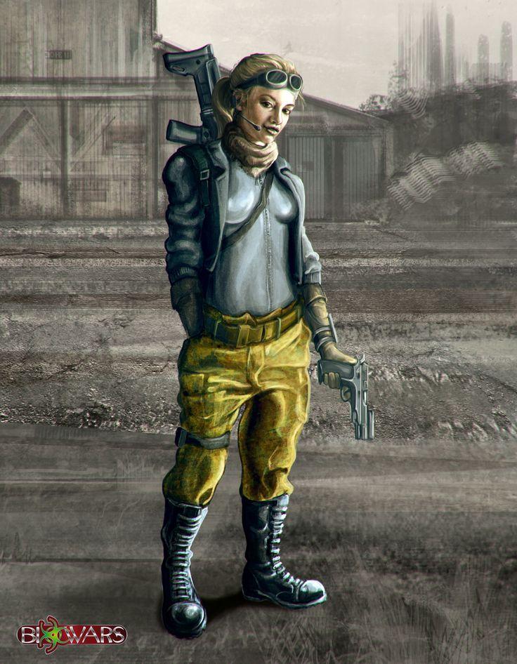 Tech Hunter - character 1 Biowars 2015  https://www.artstation.com/artwork/lDooO