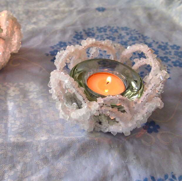 Crystal Candle Holders Borax Crystals And Craft