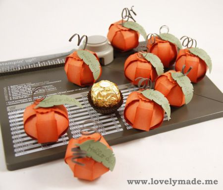 _MG_6875. Envelope Punch Board Ferrero Rocher pumpkin