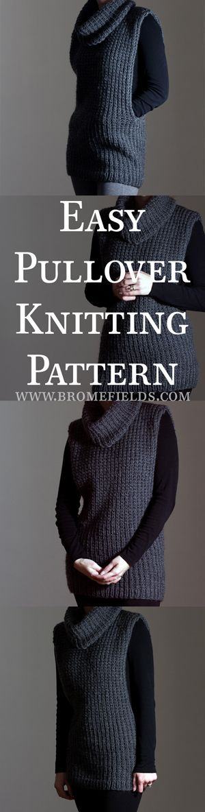 Super easy pullover knitting pattern!