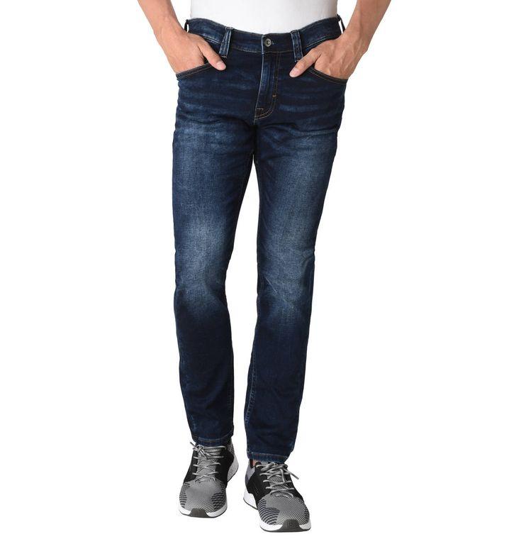 """Jeans """"Oregon"""", Tapered Fit, Baumwoll-Stretch, leichte Waschungen"""