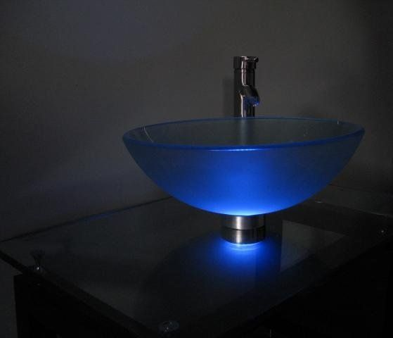 Glass Vessel Sink Mounting Ring Light!!! (blue)   Buy Vessel Sink Product  On Alibaba.com