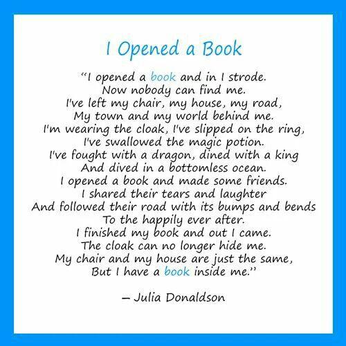 I opened a book.