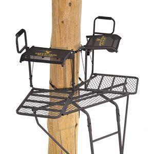 River's Edge 2-Man Bowman Ladder Treestand   L & M Fleet Supply