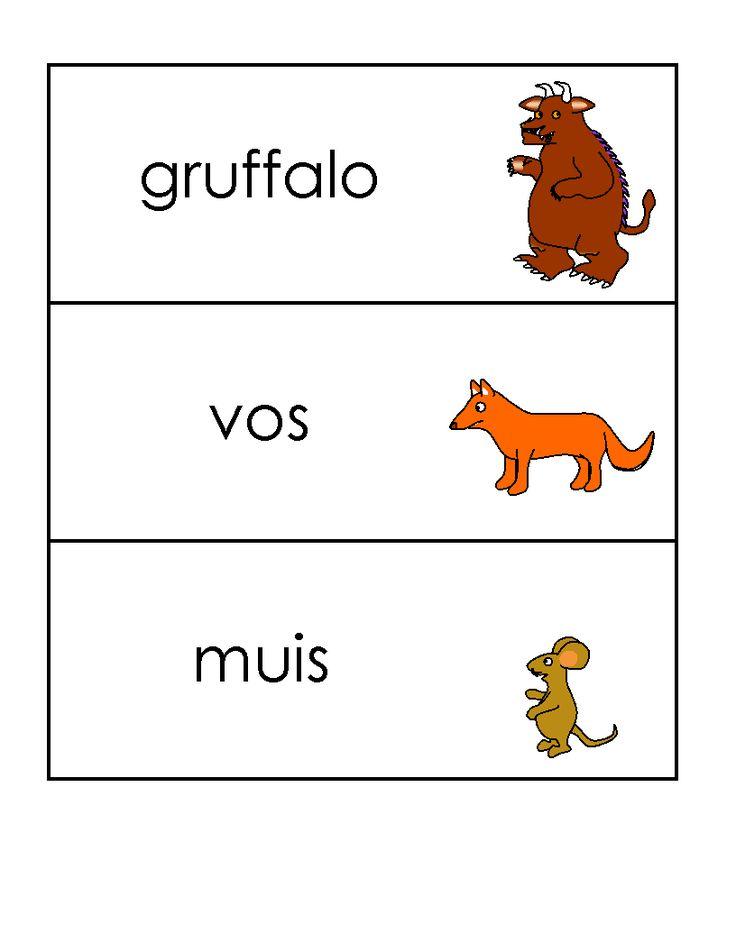 Woordkaarten: Gruffalo 4/5