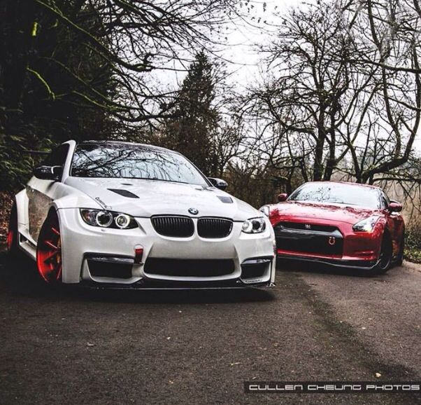 BMW M3 And Nissan GTR Source : FB Carlifestyle