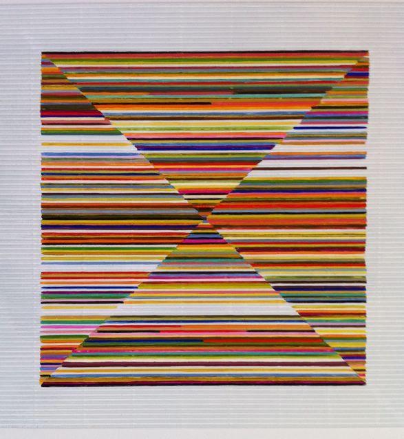 Pyramid Quartet - gouache on corrugated card by Sarah Guppy @ Visual Culture