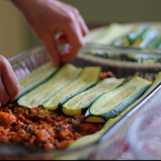 No Carb Lasagna... good idea!  Will try!used my own recipe with pre-roasted butternut squash. Gotta make it!