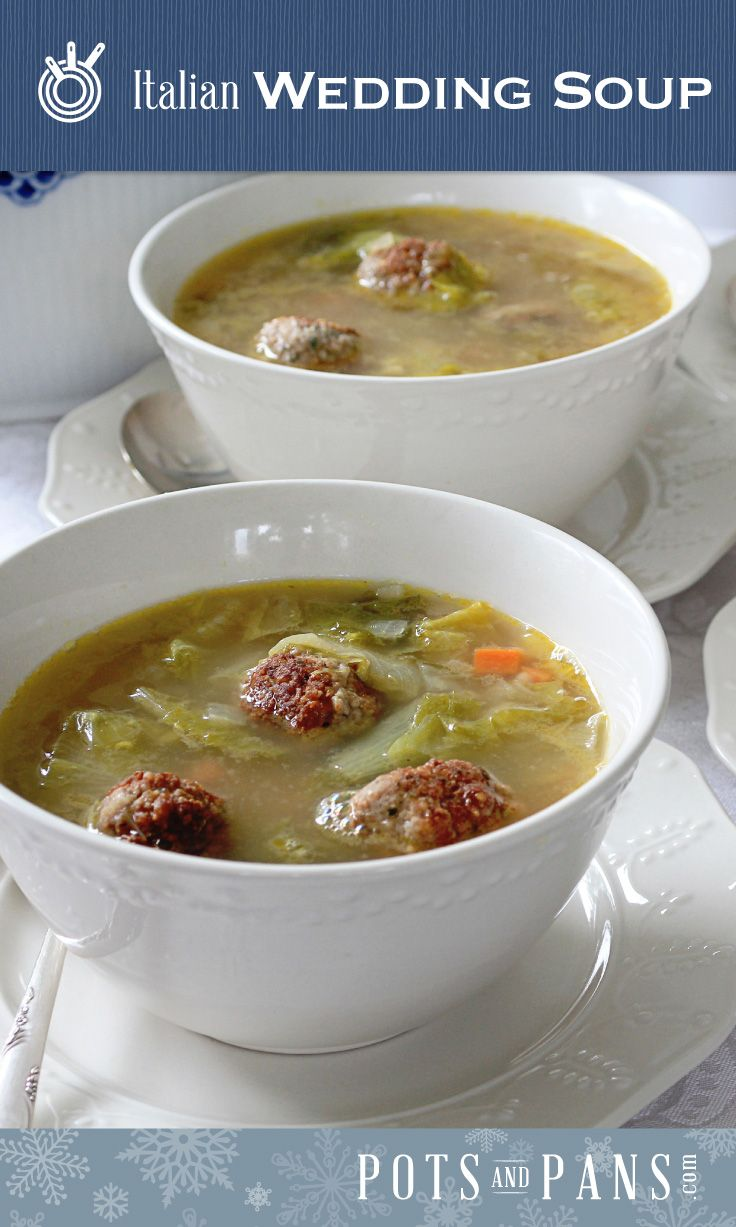 There are countless variations on this soup, which—contrary to popular belief, is named for the way the flavors of the greens and meat marry so well (and not for the occasions on which it is served). But go ahead—serve it at a wedding to symbolize the harmony you'll experience in life together. Click on the image for our Italian Wedding Soup recipe.