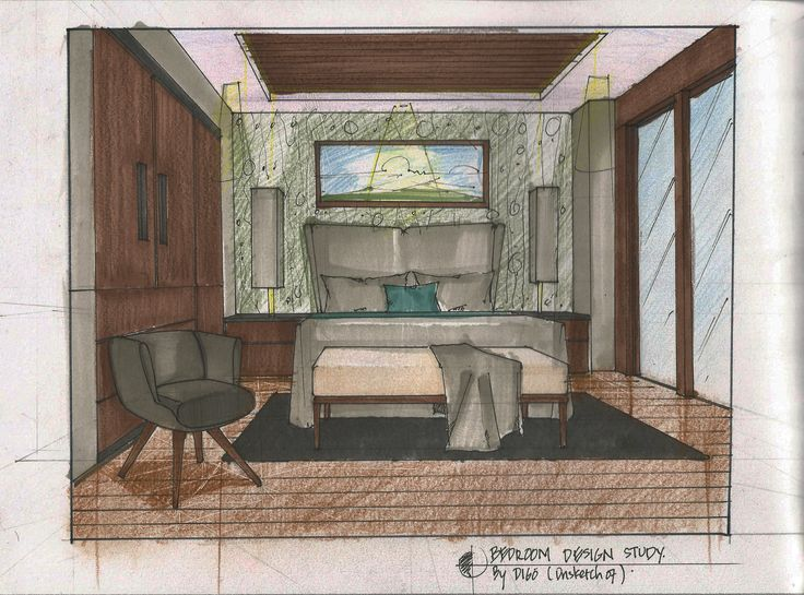 bedroom sketch design idea