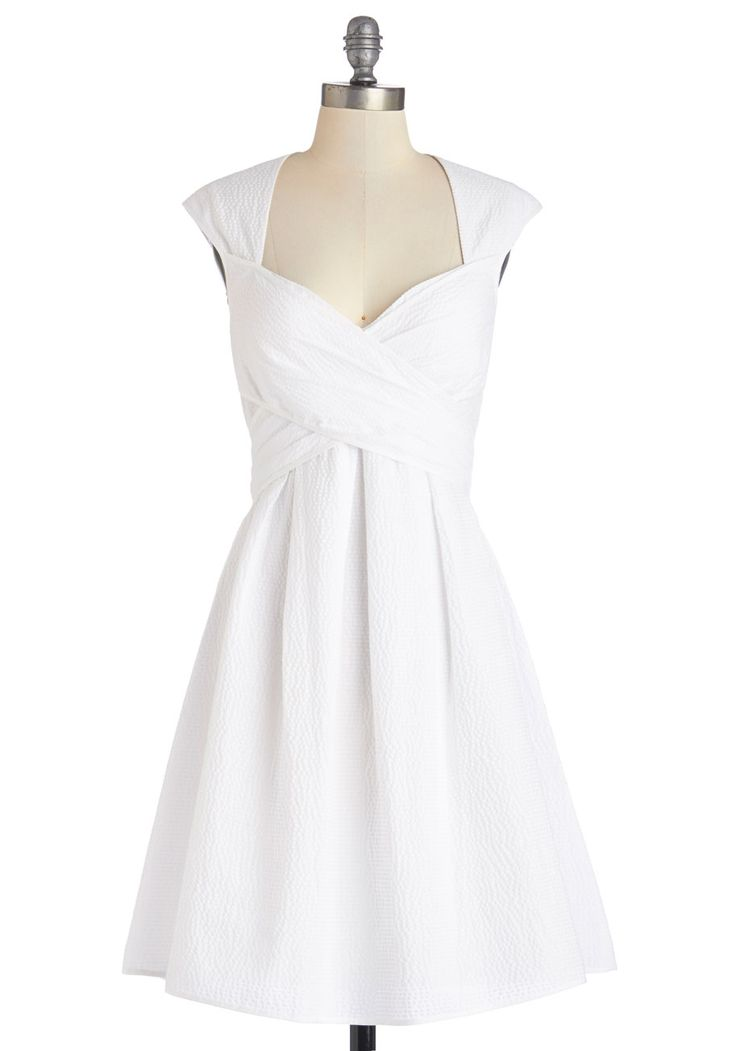 I need to own this dress IMMEDIATELY. Give Me Amour Dress in Cloud | Mod Retro Vintage Dresses | ModCloth.com