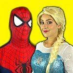 Frozen Elsa & Spiderman vs EVIL WITCH w/ Belle Joker Maleficent Toys Fun Superhero in real life IRL - YouTube